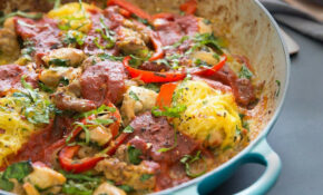 One Pot Sausage & Chicken Spaghetti Squash Bake From Practical Paleo 15nd  Edition – Paleo Recipes Chicken