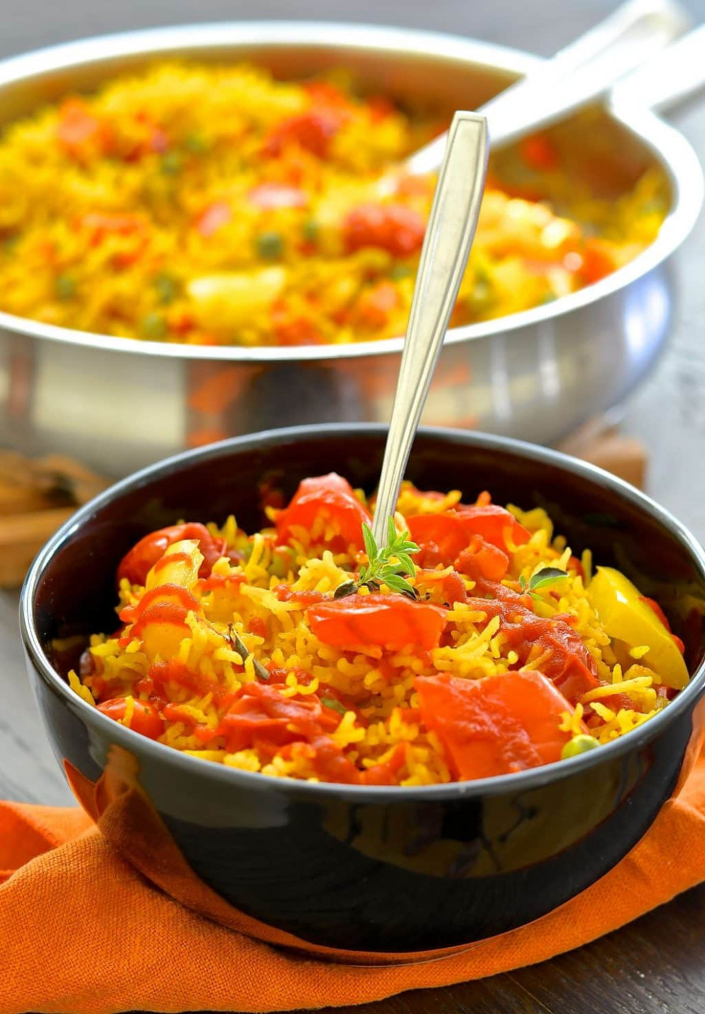 One-Pot Spicy Vegetable Rice - one pot rice recipes vegetarian