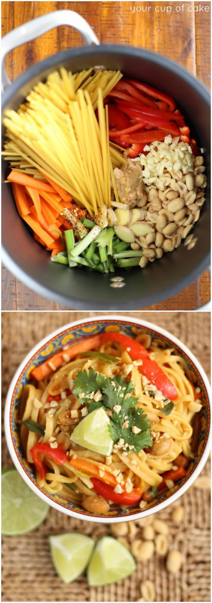 One Pot Thai Peanut Pasta - Your Cup of Cake | cook ..