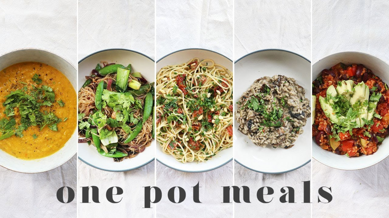 ONE POT VEGAN MEALS | 14 Fast & Lazy Beginner Recipes (with less washing up!) - one pot recipes vegetarian