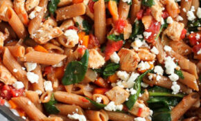 One-Pot Whole Wheat Pasta Recipe with Chicken & Spinach ...