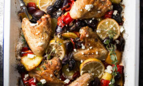 One Sheet Pan Greek Style Easy Baked Chicken Dinner – Oven Recipes Dinner