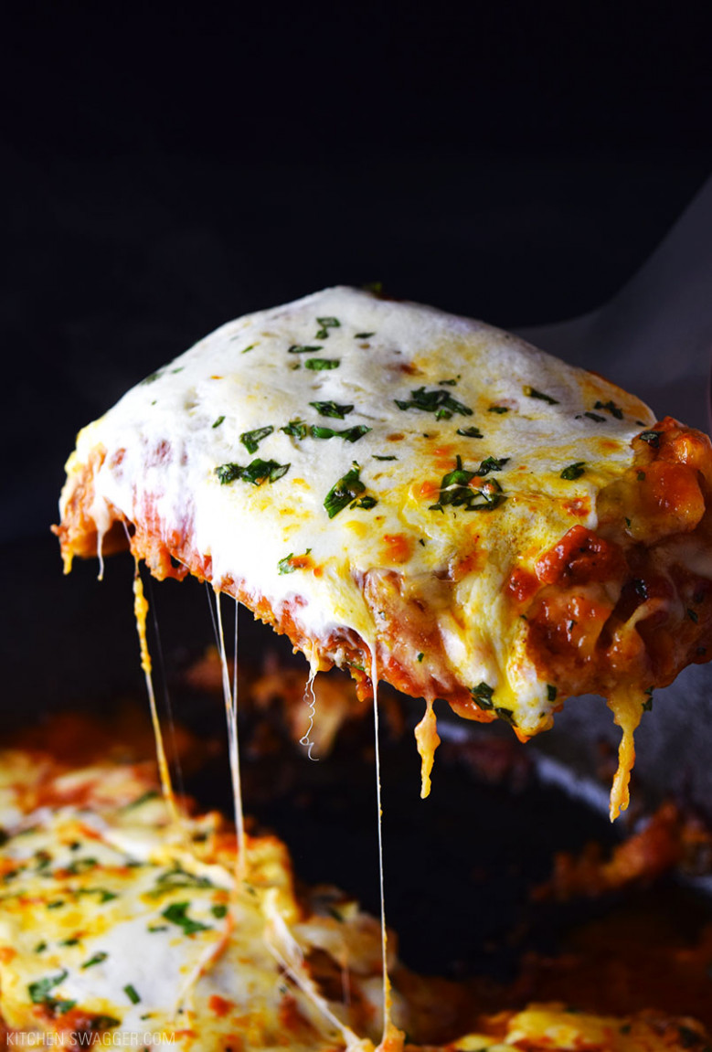 One-Skillet Chicken Parmesan Recipe | Kitchen Swagger - chicken recipes on pinterest