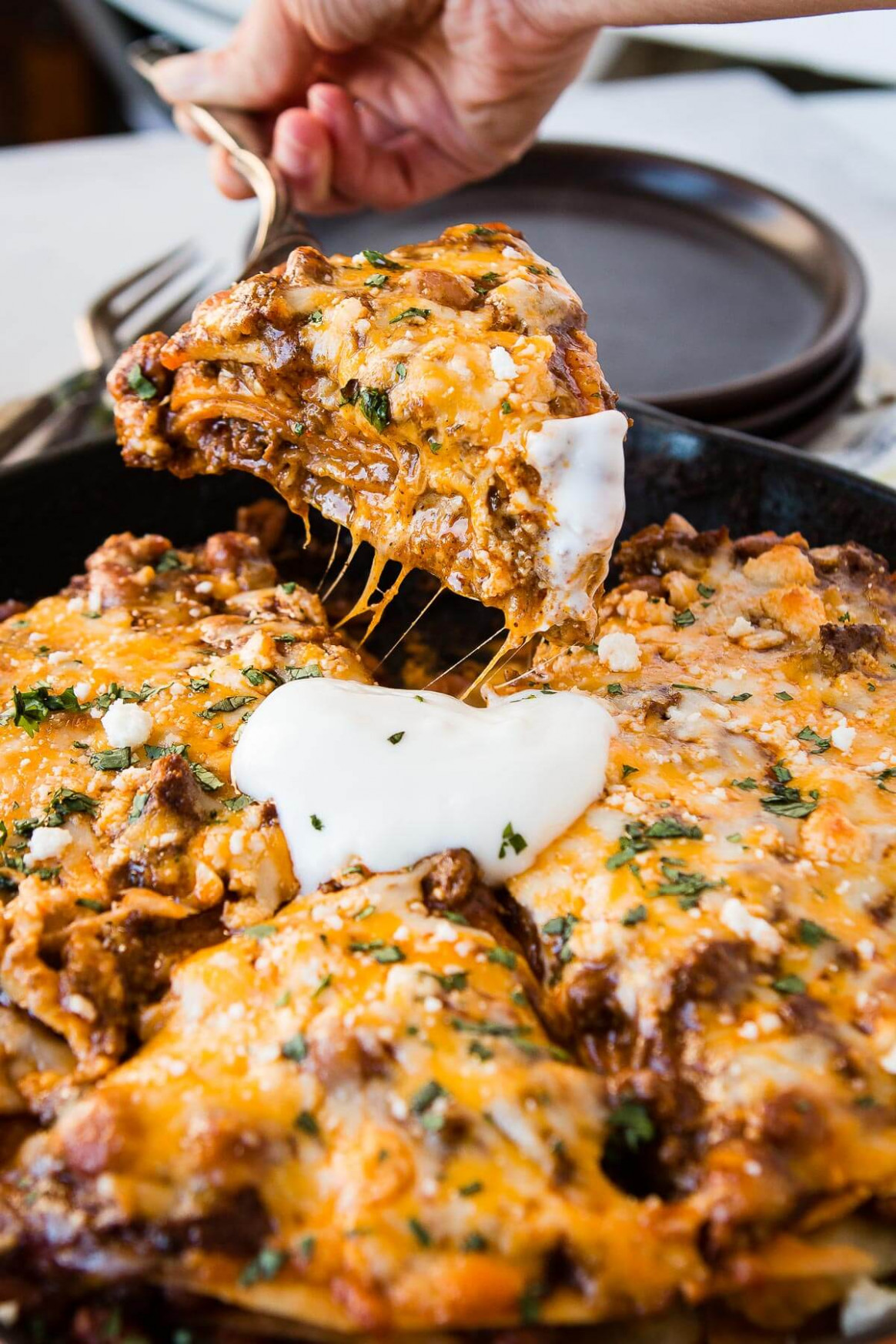 One Skillet Enchilada Casserole - healthy recipes enchilada casserole