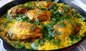 One Skillet Ginger & Turmeric Chicken Thighs With Rice – Chicken Recipes One Pan