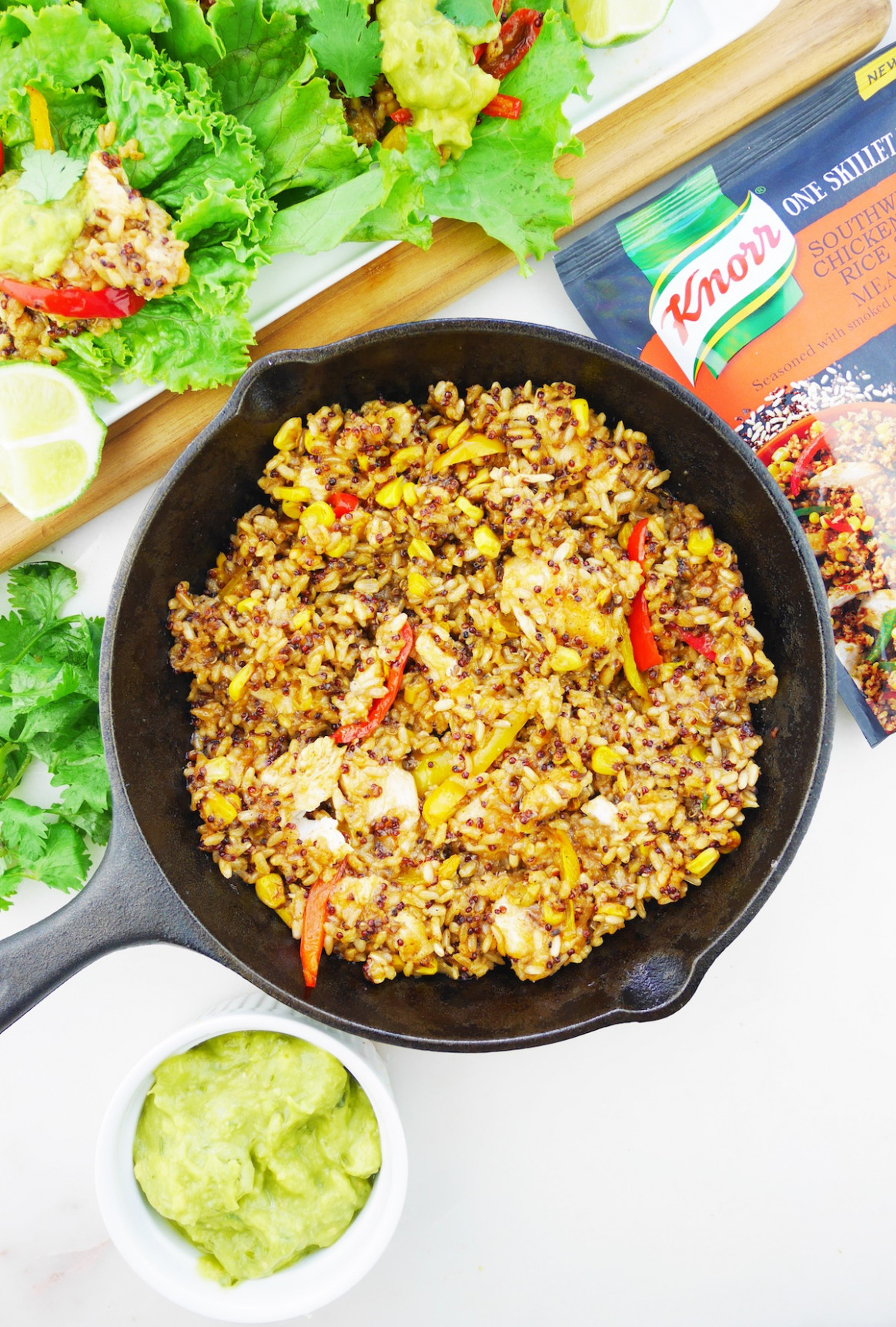 One-Skillet Southwestern Tailgate Tacos - chicken recipes knorr