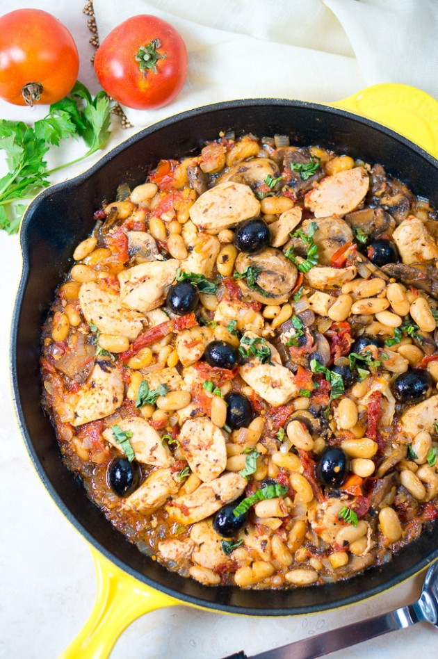 One Skillet Tuscan Chicken | Delicious Meets Healthy - Healthy Recipes One Pot