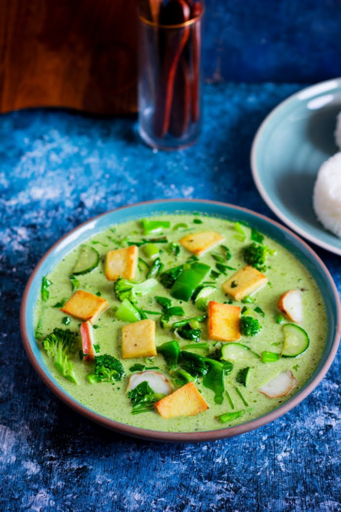 One Teaspoon Of Life: Vegan Thai Green Curry - recipe vegetarian thai green curry