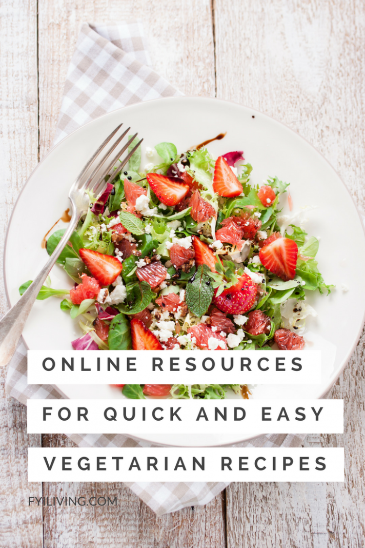Online Resources for Quick and Easy Vegetarian Recipes ..