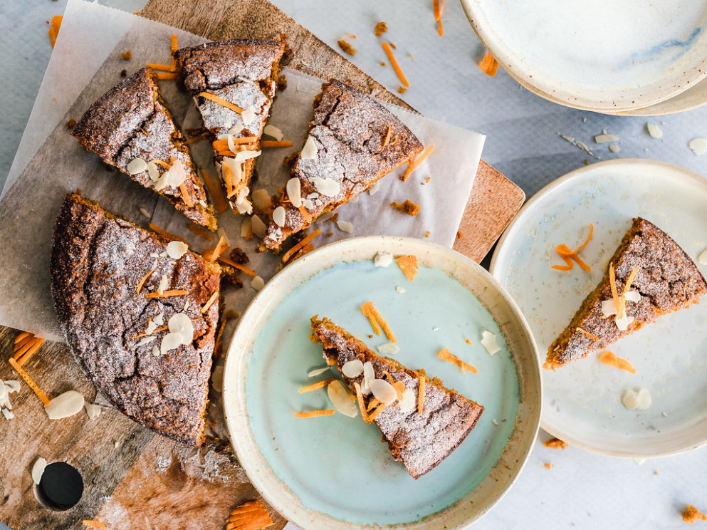 Orange almond cake - recipes for healthy food