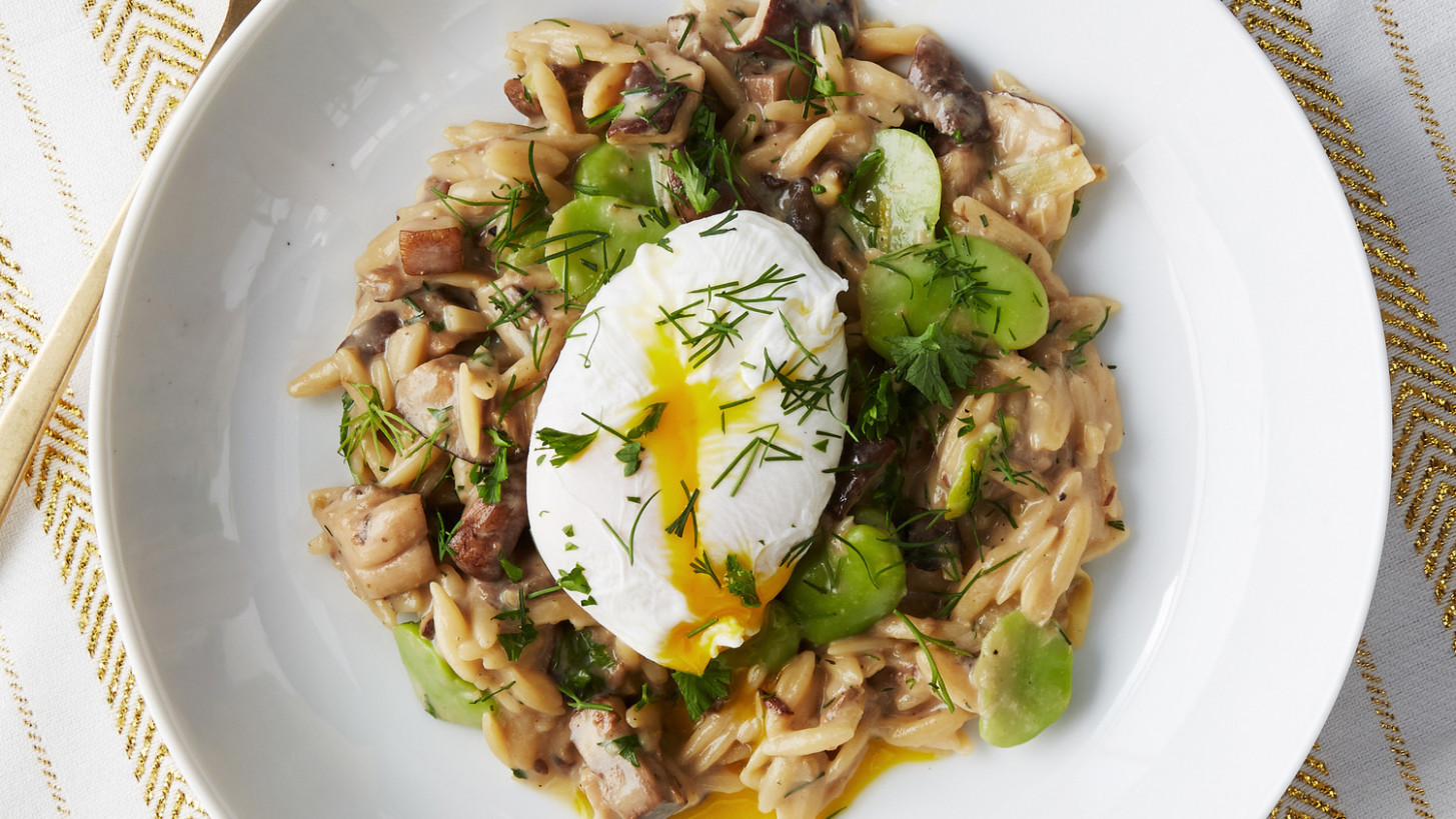 Orzo Risotto with Wild Mushrooms - risotto recipes vegetarian