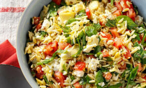 Orzo Vegetable Salad – Healthy Pasta Recipes Vegetarian