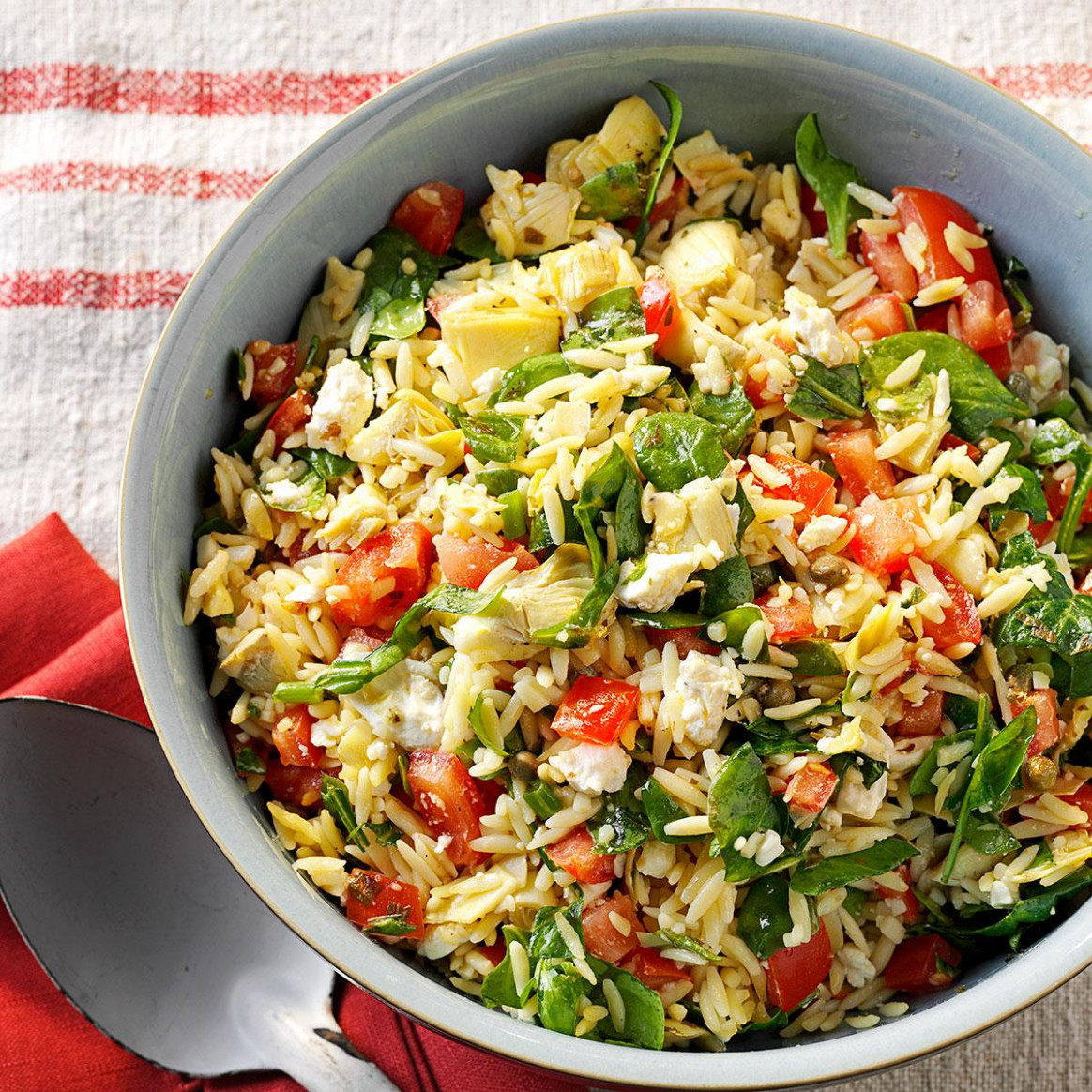 Orzo Vegetable Salad - healthy pasta recipes vegetarian