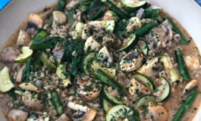 Orzotto With Spring Vegetables – Mediterranean Recipes Vegetarian