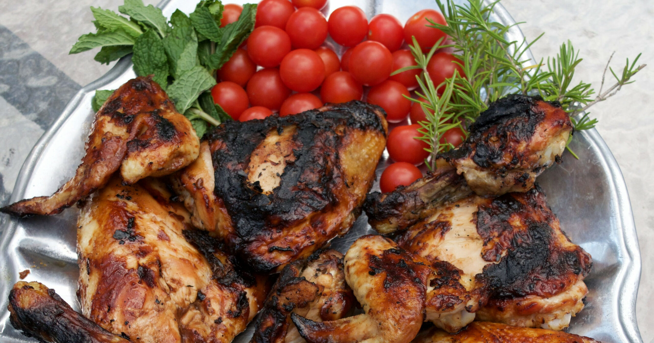 Oven-baked BBQ Chicken Finished on the Grill - chicken recipes bbq