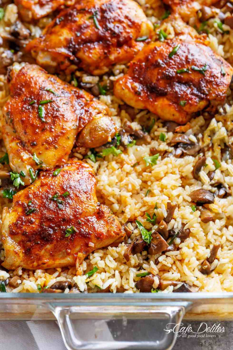Oven Baked Chicken And Rice - Cafe Delites - baked recipes dinner