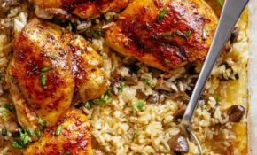Oven Baked Chicken And Rice – Chicken Recipes Easy Dinner