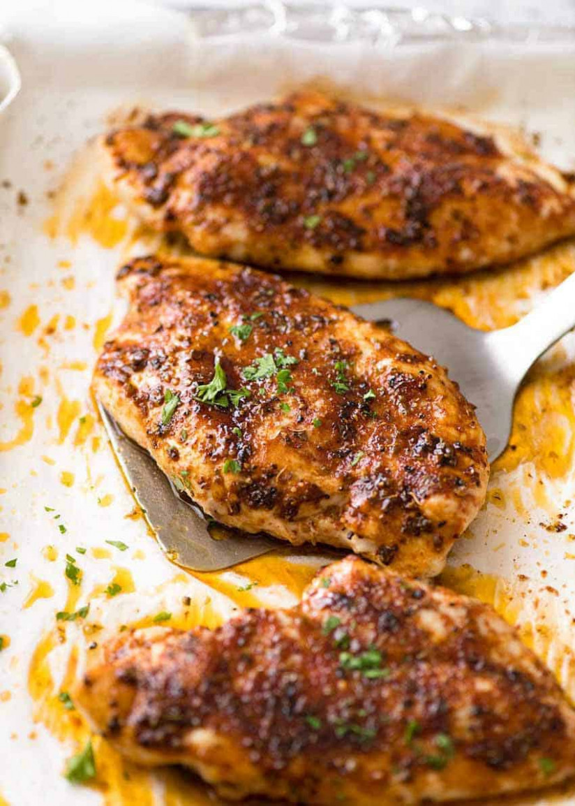 Oven Baked Chicken Breast - chicken recipes using cooked chicken