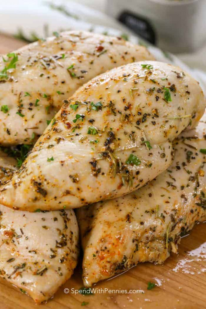 Oven Baked Chicken Breasts Ready in 30 Mins! - Spend ..