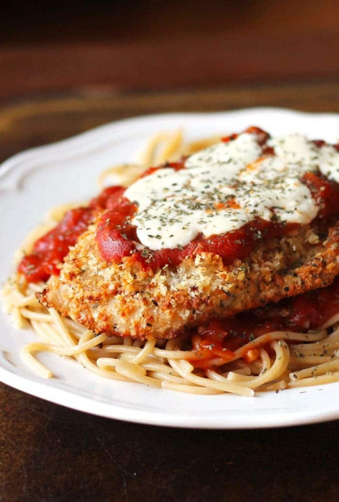 Oven-Baked Chicken Parmesan - recipes parmesan chicken