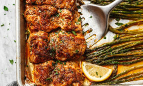 Oven Baked Chicken Recipe With Asparagus — Eatwell101 – Recipes On Baked Chicken