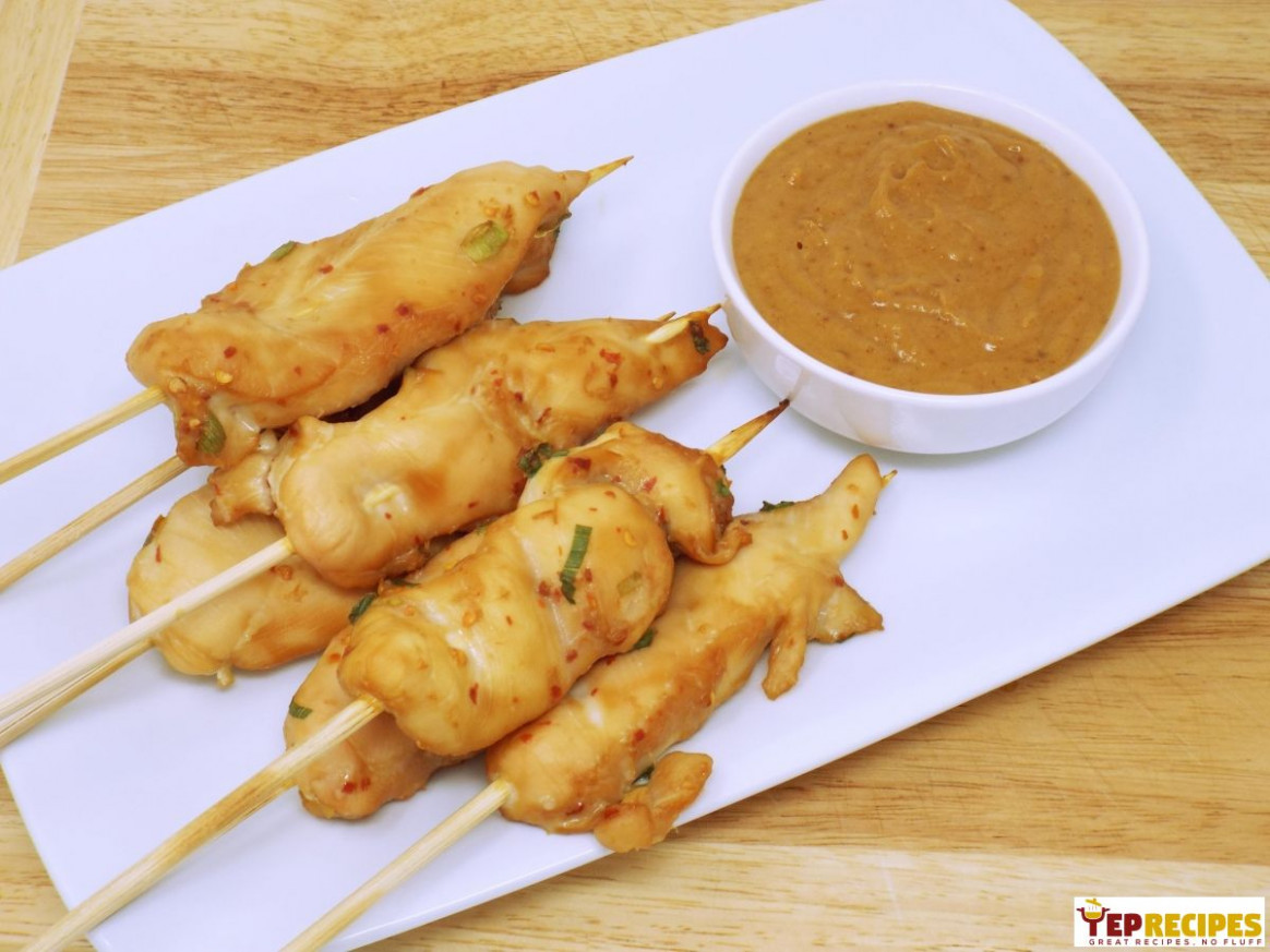 Oven Baked Chicken Satay with Peanut Sauce - recipes satay chicken