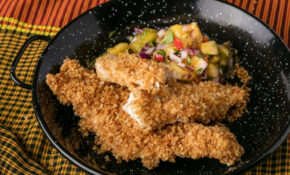 Oven Baked Chicken Tenders With Pineapple Apricot Salsa ..