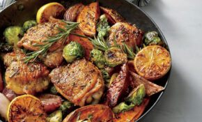 Oven Baked Chicken Thighs With Vegetables – Chicken Recipes Skillet