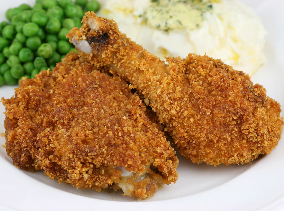 Oven Baked Corn Flake Crumb Chicken - oven recipes chicken