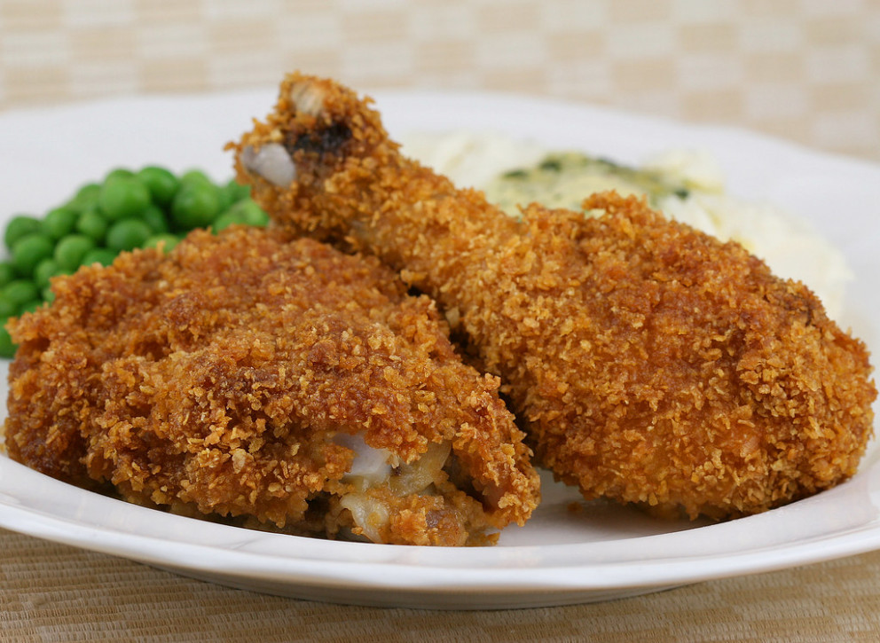 Oven Baked Corn Flake Crumb Chicken - recipes to bake chicken