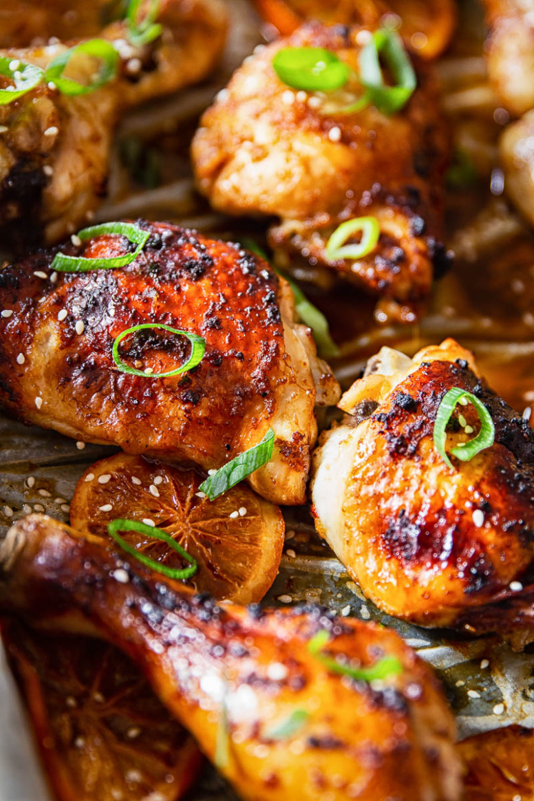 Oven Baked Honey Soy Chicken Thighs and Drumsticks - chicken recipes legs
