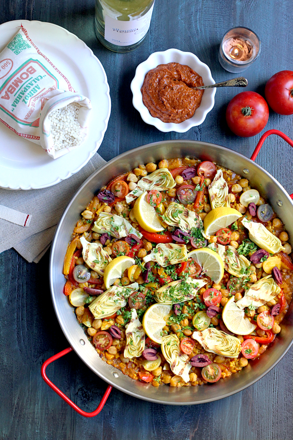 oven baked vegetarian paella - vegetarian recipes in oven