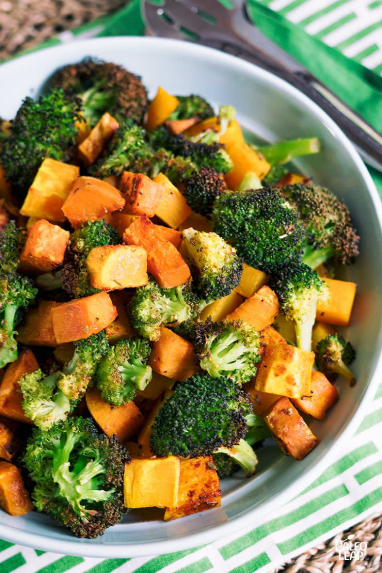 Oven Roasted Broccoli And Squash - oven recipes vegetarian