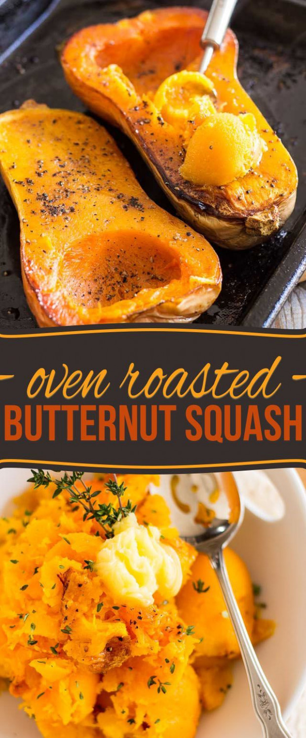 Oven Roasted Butternut Squash - butternut squash recipes vegetarian