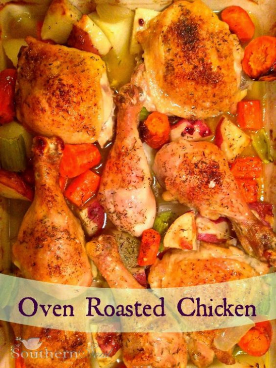 Oven roasted chicken, Roasted chicken and Ovens on Pinterest - oven recipes dinner