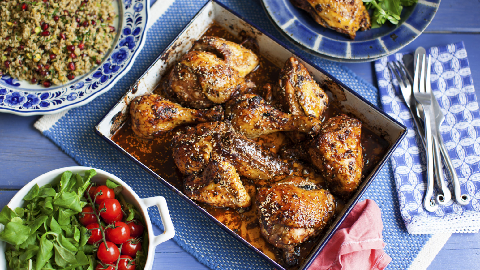 Oven Roasted Chicken With Sumac And Pomegranate Molasses - Chicken Recipes Roasted