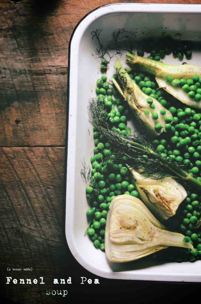 oven roasted fennel and peas - vegetarian recipes oven
