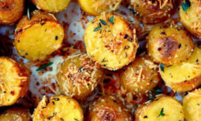 Oven Roasted Herb And Garlic Parmesan Potatoes – Oven Baked Potato Recipes Dinner