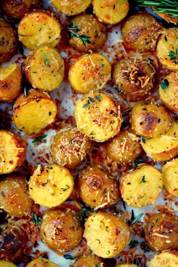 Oven Roasted Herb and Garlic Parmesan Potatoes -- part of ..