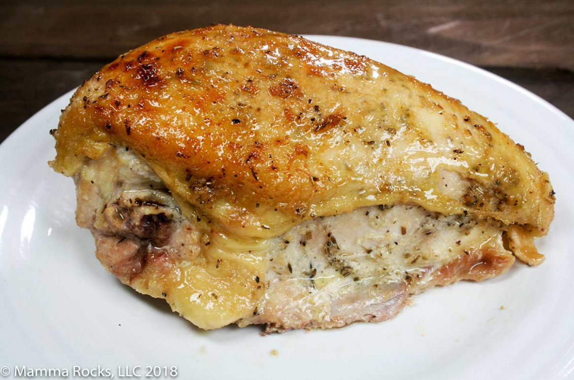 Oven Roasted Rosemary And Thyme Chicken Breast On The Bone Recipe - Recipes Bone In Chicken Breast