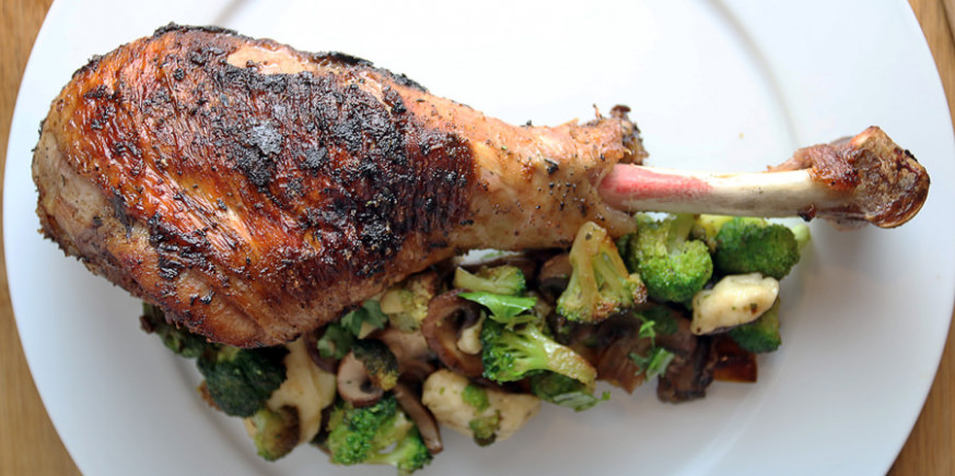 Oven Roasted Turkey Legs | Ruled Me - healthy recipes roasted turkey legs