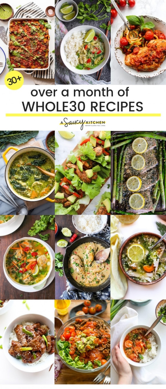 Over a Month of Whole15 Recipes - A Saucy Kitchen - whole30 recipes vegetarian