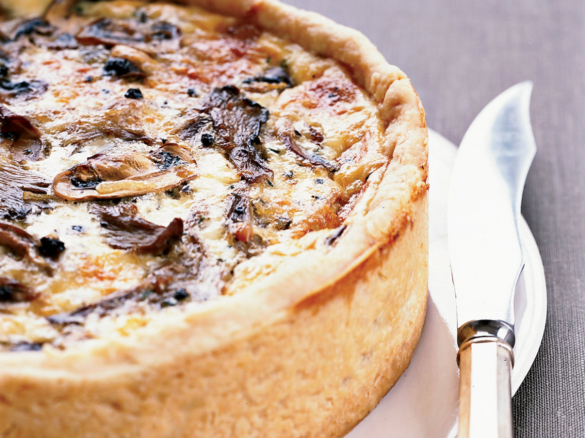 Over-the-Top Mushroom Quiche - food recipes quiche
