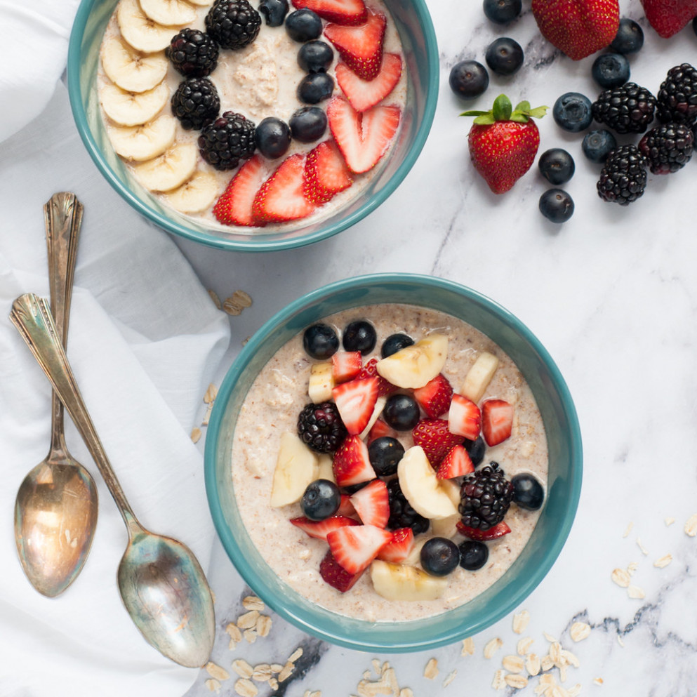 Overnight oats for quick weekday breakfasts - healthy recipes for breakfast