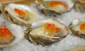 Oysters And Ikura, By Uchi For Chef Surprise At RecipeHouse – Egg Recipes Dinner