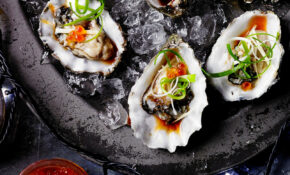 Oysters With Ginger Japanese Dressing Recipe – Olive Magazine – Japanese Recipes Dinner Party