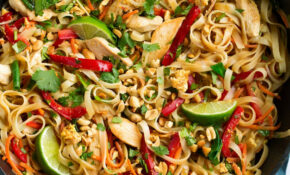 Pad Thai Recipe (with Chicken Or Shrimp) – Cooking Classy – Healthy Recipes Noodles