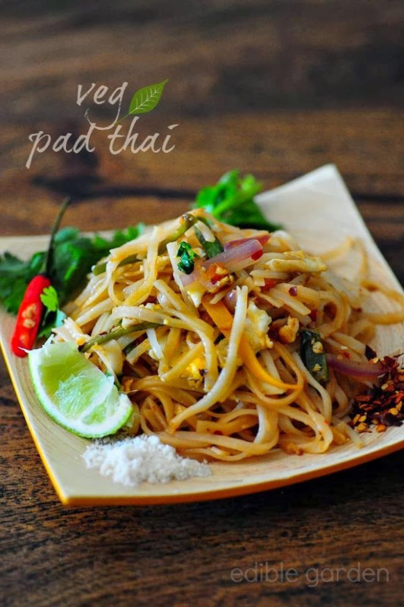 Pad Thai - Vegetarian Pad Thai Noodles Recipe, Step by ..
