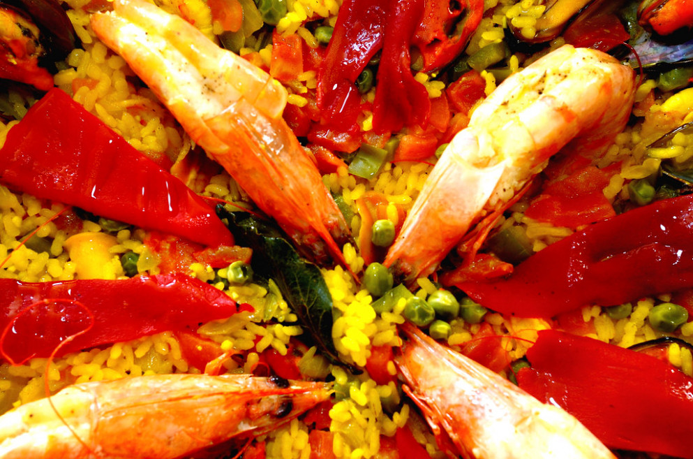 Paella Caseira de Frutos do Mar - mediterranean recipes dinner