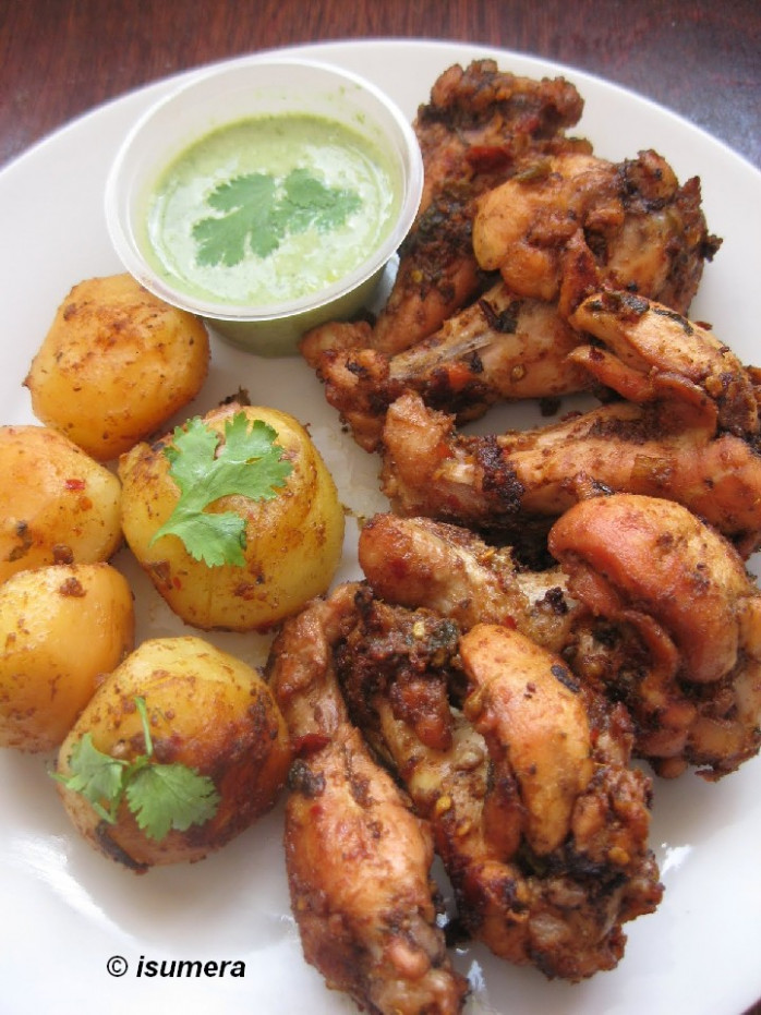 Pakistani Food Recipes: Chicken roast with potatoes - chicken recipes pakistani